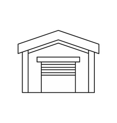 Car garage icon outline style vector