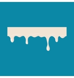 Dripping down milk icon vector