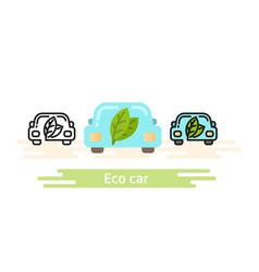 Eco car icon template this shows a vector