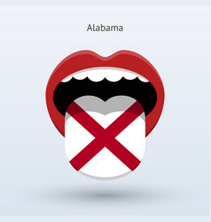 Electoral vote of alabama abstract mouth vector
