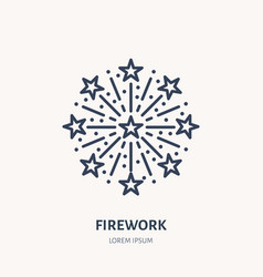 fireworks line icon logo for event service vector image