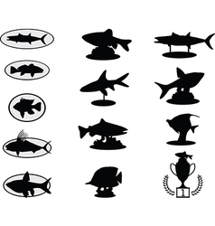 Fish trophies vector