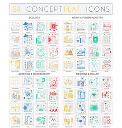 Infographics concept icons of ecology heavy power vector