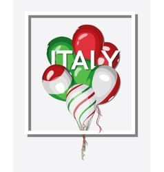 Italy bunch of balloons with italian flag colors vector