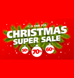 its time for christmas super sale vector image vector image
