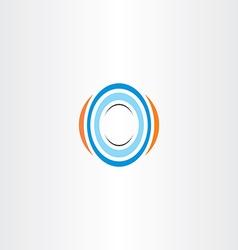 letter o logo sign logotype vector image
