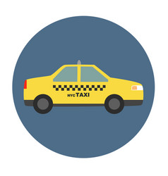New york city taxi vector