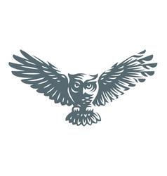 owl - icon design vector image vector image