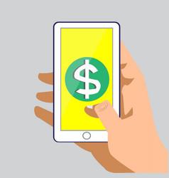 phone dollar vector image vector image