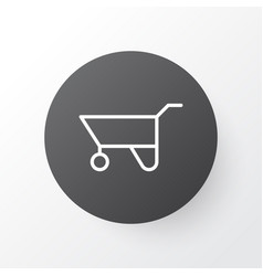 pushcart icon symbol premium quality isolated vector image