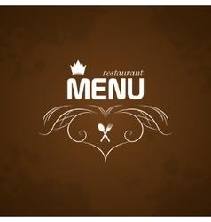 Restaurant Menu on brown background vector image vector image