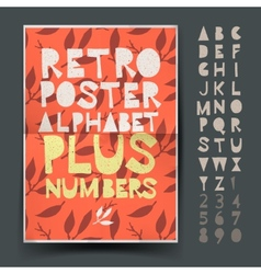 Retro alphabet for art and craft posters design vector image vector image