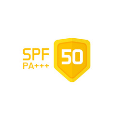 Spf label icon isolated sun protection vector