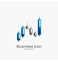 Stock chart icon vector image