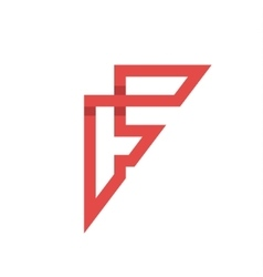 The letter F on the flat style vector image vector image
