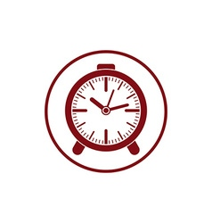 Time conceptual stylish icon simple desk clock vector