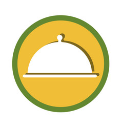 Tray server emblem isolated icon vector