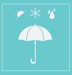 Umbrella icon isolated on blue background vector