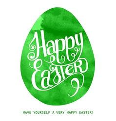 Watercolor print green egg vector image vector image