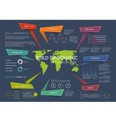 Web site landing page infographics design vector