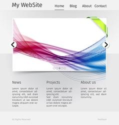Website design template - grayscale version vector image