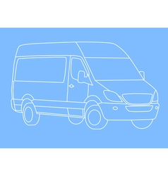 white delivery van vector image vector image