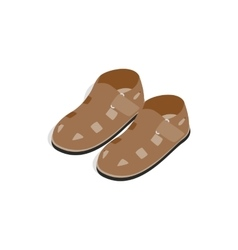 Mens sandals icon isometric 3d style vector