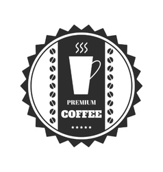 Coffee emblem badge logo label isolated on vector
