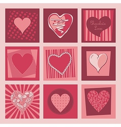 Valentine hearts set vector