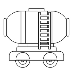 Waggon storage tank with oil icon outline style vector