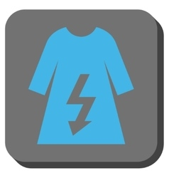 Electric woman dress rounded square button vector