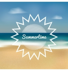 summertime beach vector image