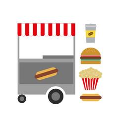 American fast food vector