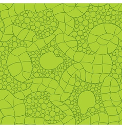Green knitted seamless pattern vector
