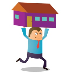 Man buying house vector