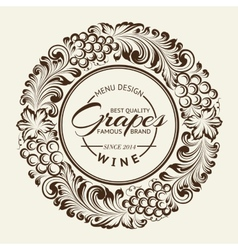 Vintage radial ornament over sepia vector