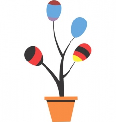 Balloon plant vector