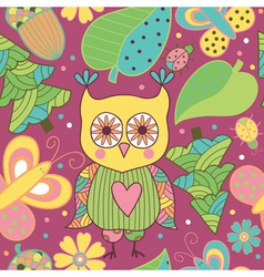 Seamless pattern with cartoon characters vector
