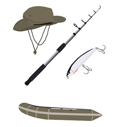 Fishing set vector