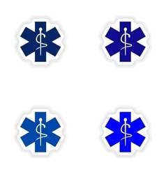 Assembly realistic sticker design on paper medical vector