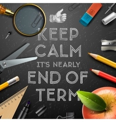 Schools out end of term vector image