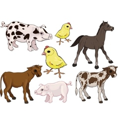 Baby farm animals set vector