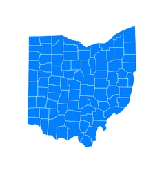 Map of Ohio vector image