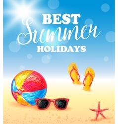 Best Summer Holidays Poster vector image
