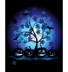 halloween pumpkins vector image