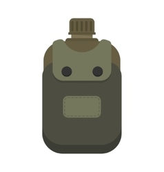 Army water canteen vector