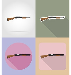 Weapon flat icons 07 vector