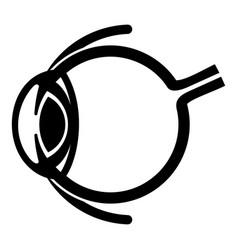 Anatomy of eye icon simple style vector
