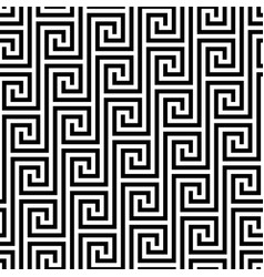 Black and white classic meander seamless pattern vector
