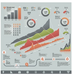 business related infographic elements vector image vector image